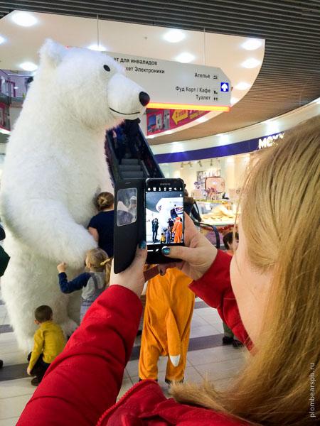 Новогодние праздники в Капитолий белый медведь