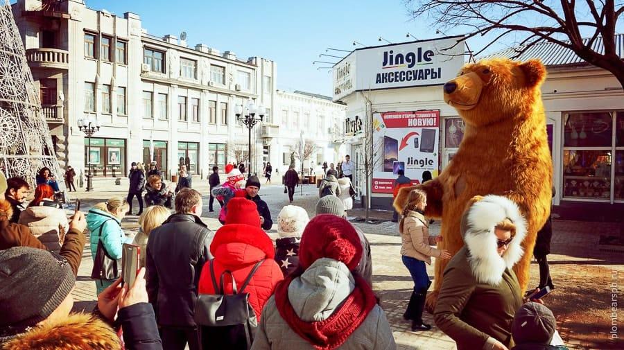 медведь Plombear в центре Симферополя