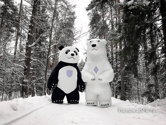 белый медведь и панда заказать в санкт Петербурге Спб питере на праздник