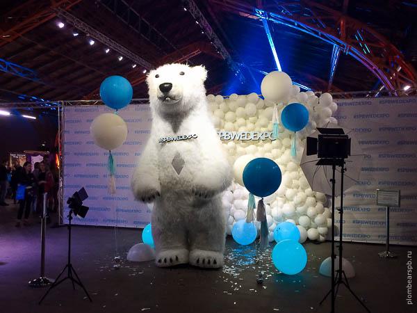 медведь на Spbwedexpo свадебная выставка в Спб