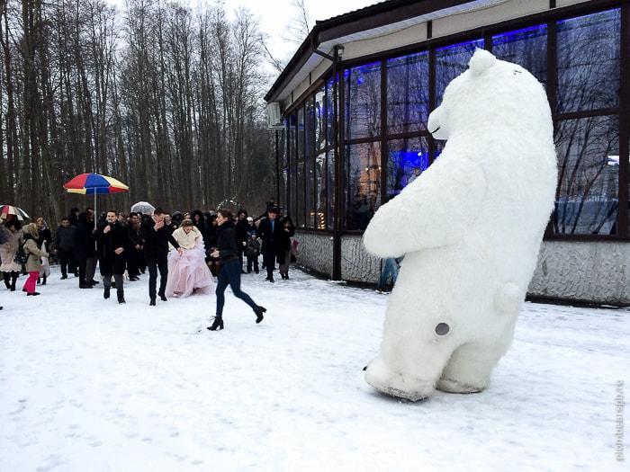 ростовые куклы гиганты на свадьбу в Спб